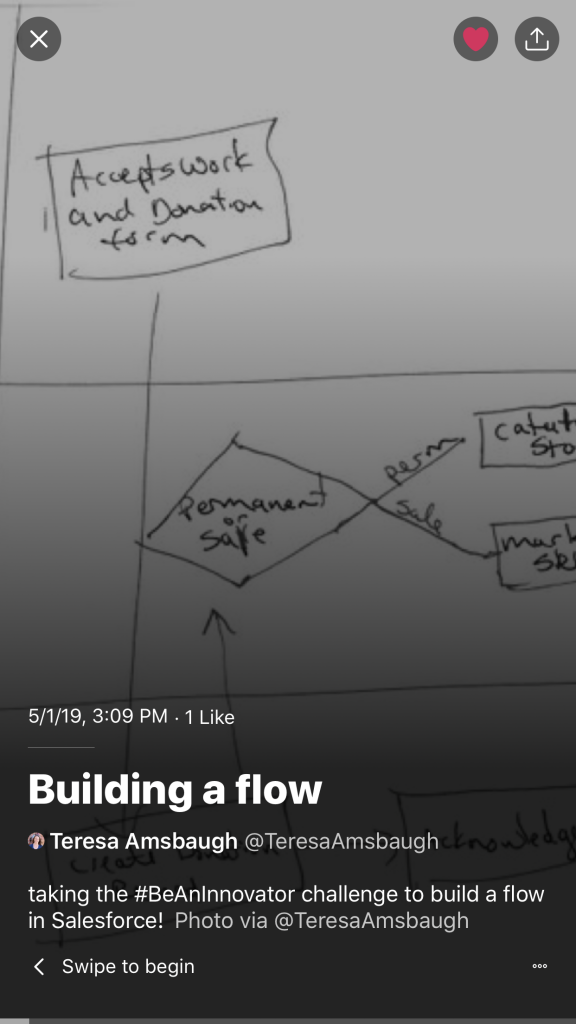 Building a Flow Twitter moment screenshot