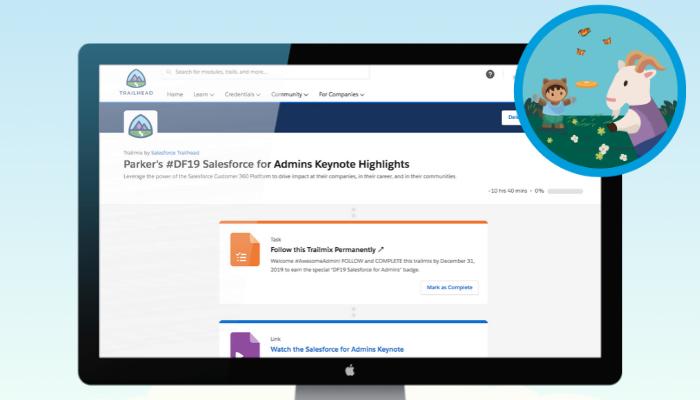 Salesforce for Admins Keynote Trailmix