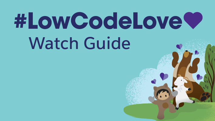 Cloudy, Codey and Astro celebrate LowCodeLove