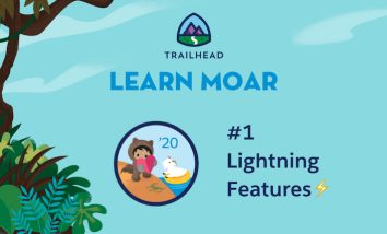 Astro and Cloudy on the beach, dark blue text that reads number one Lightning Features and a lightning bolt emoji