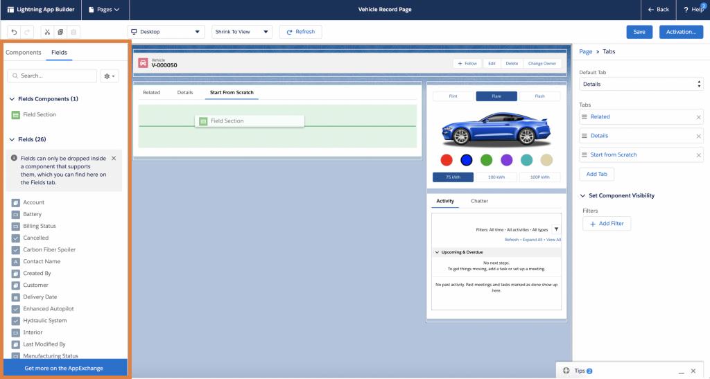 app builder screenshot