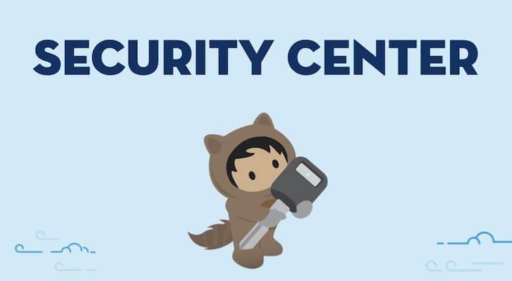 """light blue background with navy text """"Security Center"""" and underneath Astro is holding a large key"""