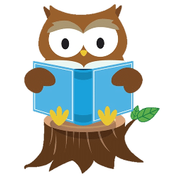 Hootie reading a book