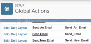 setup global actions in salesforce