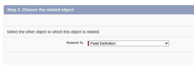 Field Definition screen