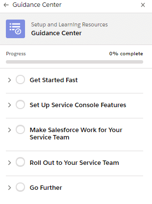 The Guidance Center in Spring '21 Salesforce Release