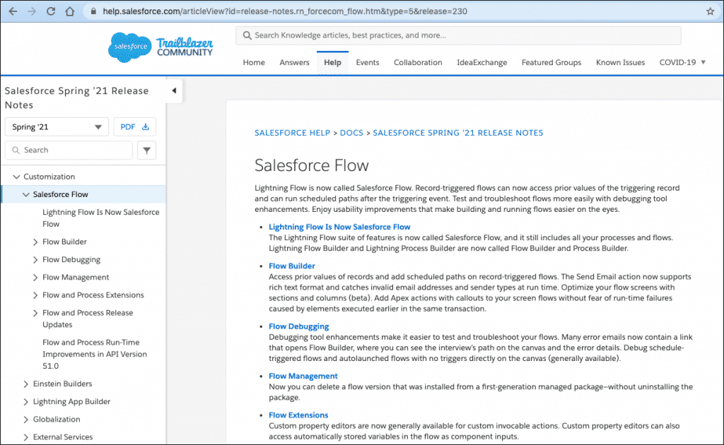 Salesforce Release Notes on Flow