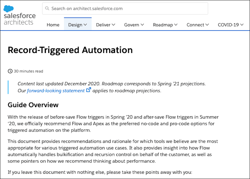 The Recored-Triggered Automation Architect Guide