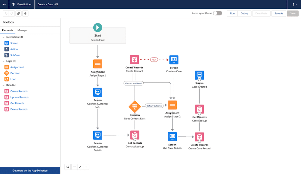 Create a Case Standard Flow