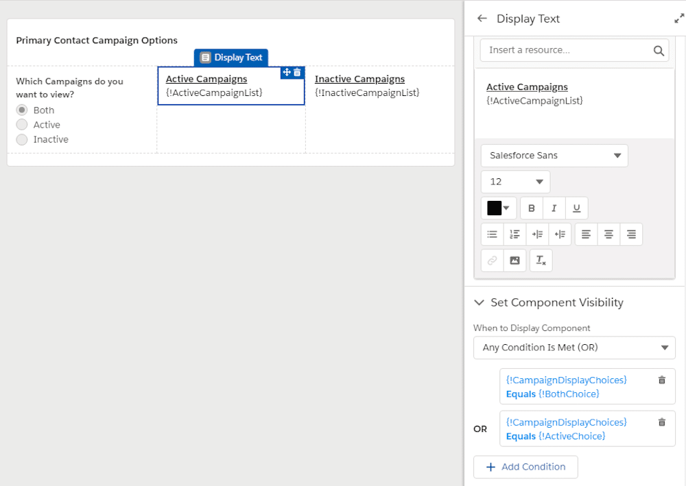 Image showcasing how to use a text display component.