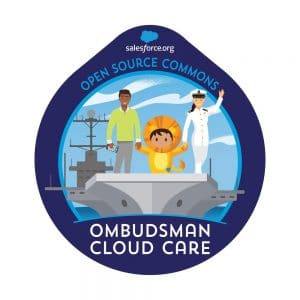 OCC logo: Shows an aircraft carrier with three smiling people on the deck.