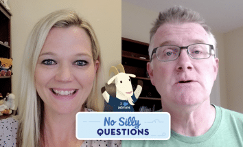 """""""No Silly Questions"""" featuring Sarah Coulter and James Ferguson."""