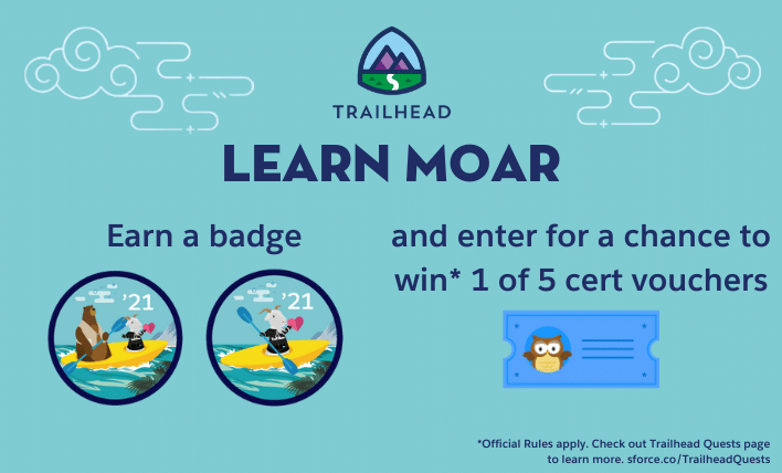 Learn Moar Summer '21 image with two community badges featured.