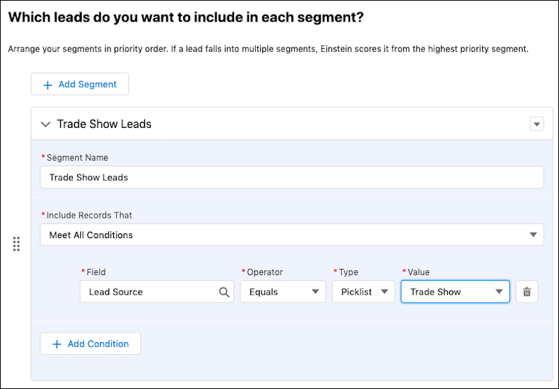 Image showcasing how you can arrange your segments in priority order.