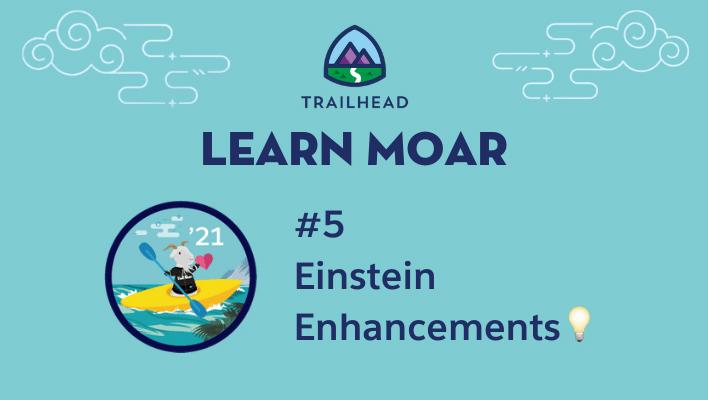 Lear Moar Blog 5: Einstein Enhancements