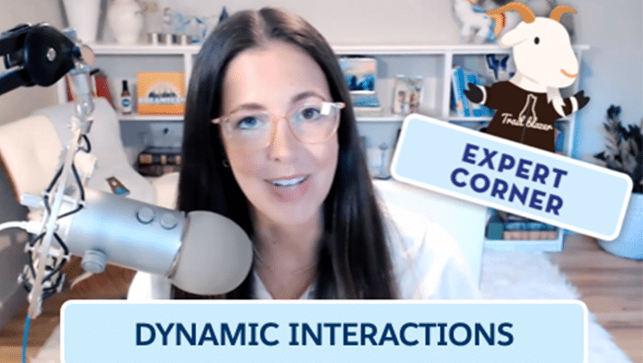 """Image of LeeAnne Rimel next to text that says """"Dynamic Interactions Expert Corner."""""""