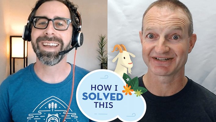 """Image of Marc Baizman and Stephen Brown for our """"How I Solved This"""" blog post and video."""