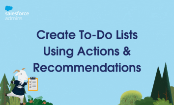 """Cloudy with a check list standing next to text that says """"Create To-Do Lists Using Actions & Recommendations."""""""