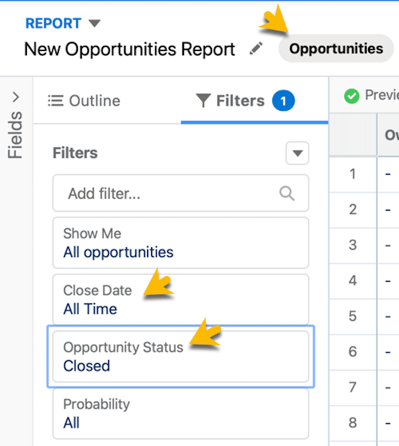 A report on opportunities.