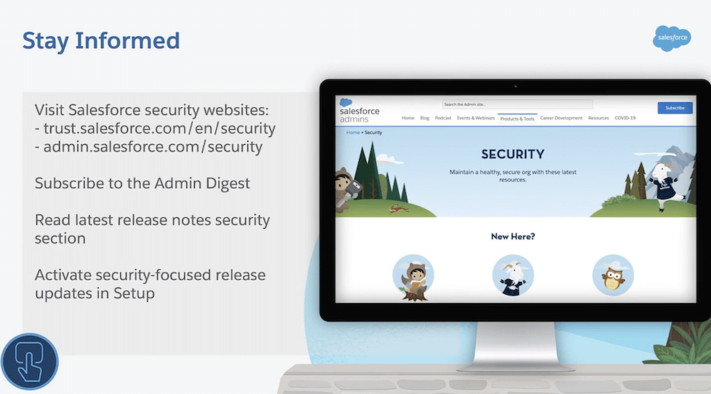 Tips for staying informed on security.