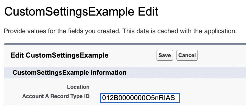 Example of an org custom setting.