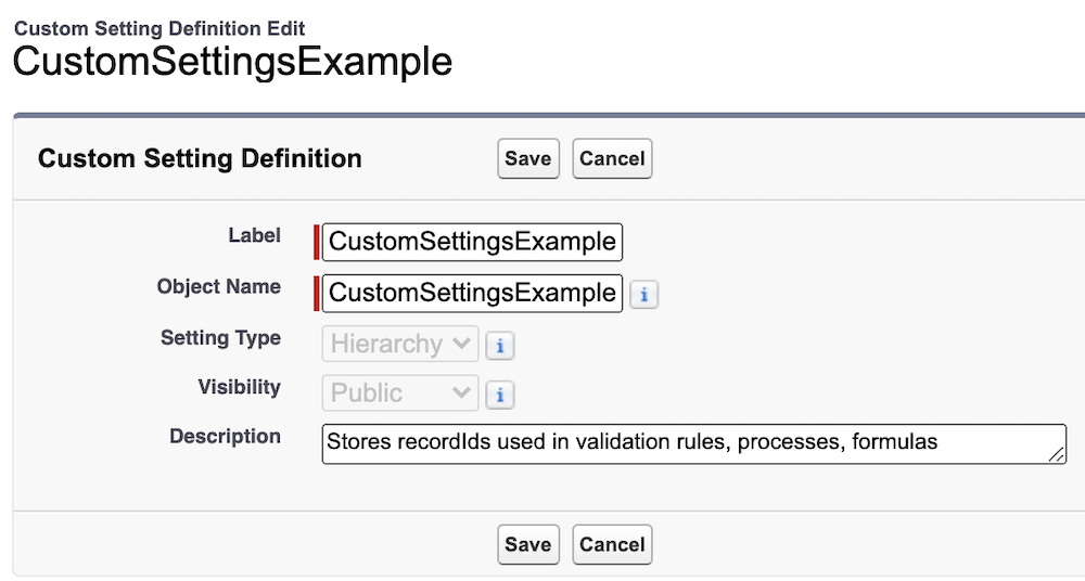 How to find a custom setting.