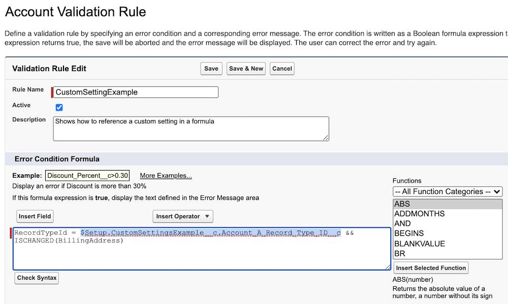 How to add custom settings.