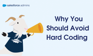 """Image of cloudy with a megaphone next to text that says """"Why You Should Avoid Hard Coding."""""""
