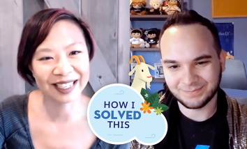"""Jen Lee and Zach Banks in """"How I Solved This"""" video."""