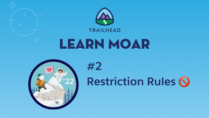 """Astro and Cloudy on a mountain next to text that says """"#2 Restriction Rules."""""""