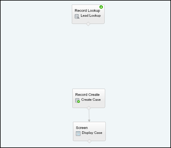 Salesforce Visual Workflow : Step 1 - Delete Arrow between 2 elements